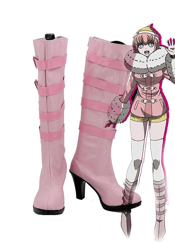 Danganronpa 3 Ruruka Ando Cosplay Boots Pink Shoes High Heel Custom Made
