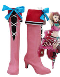 The Seven Deadly Sins Diane Cosplay Boots Pink High Heel Shoes Custom Made for Unisex