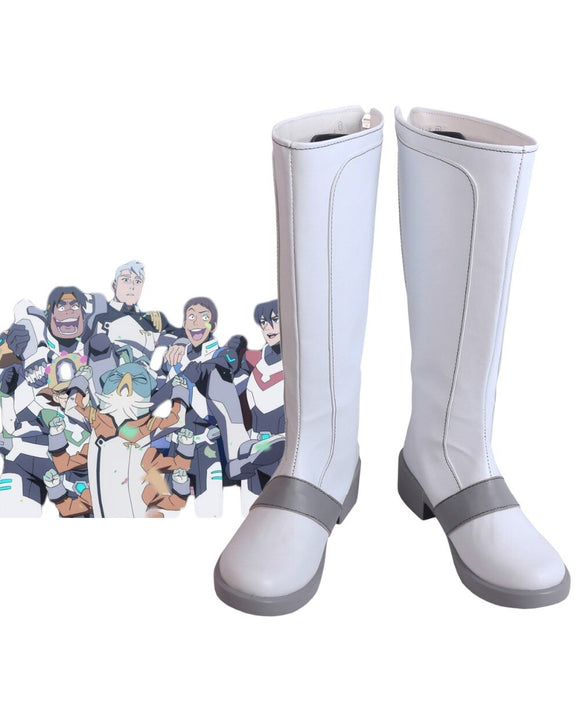 Voltron: Legendary Defender Season 8 All Memers Cosplay Boots White Shoes Halloween Carnival Cosplay Costume Accessories