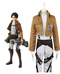 Attack On Titan Levi Ackerman the Recon Corps Cosplay Costume Custom Made