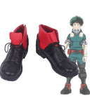 Boku no Hero Akademia Izuku Midoriya Cosplay Shoes My Hero Academia Midoriya Izuku Black Boots Cosplay Custom Made
