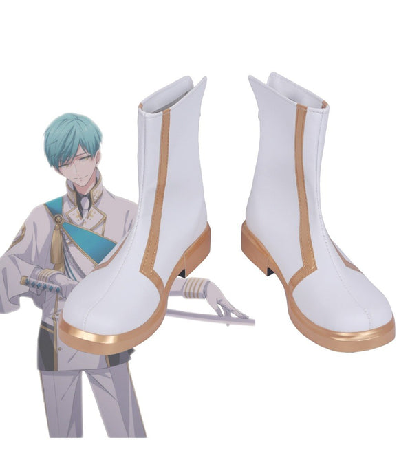 Touken Ranbu Ichigo Hitofuri Cosplay Boots White Shoes Custom Made