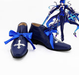 ELSWORD Ciel Royal Guard Cosplay Shoes Blue Boots Custom Made Any Size