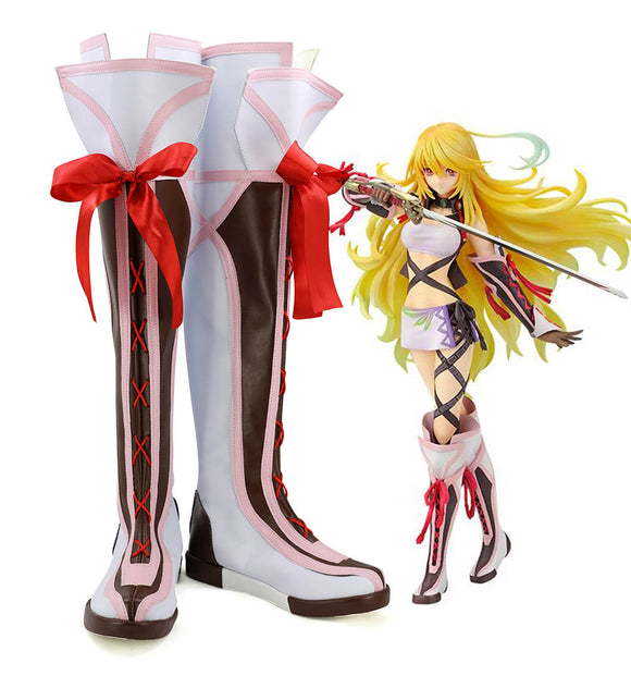 Tales of Xillia Milla Maxwell Cosplay Boots Leather Shoes Custom Made