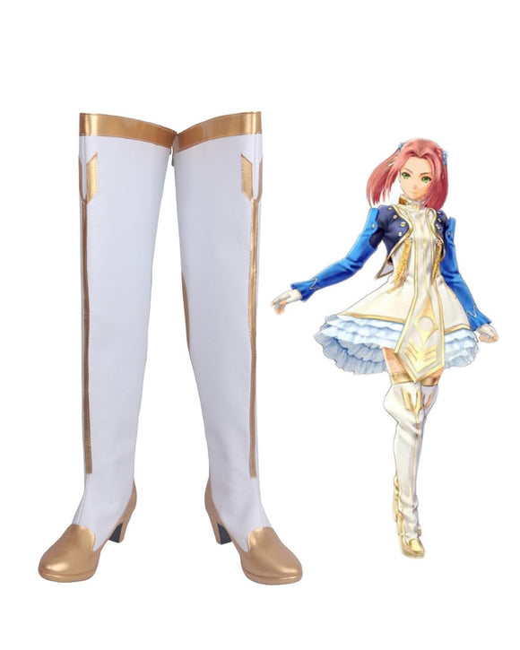 Tales of Berseria Eleanor Hume Cosplay Boots White Shoes Custom Made