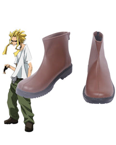 Boku no Hero Academia All Might Cosplay Boots My Hero Academia Leather Shoes Cosplay Custom Made