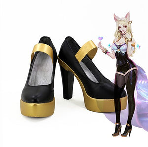 League of Legends LOL KDA Kaisa Akali Evelynn Ahri Cosplay Boots Leather Shoes Custom Made