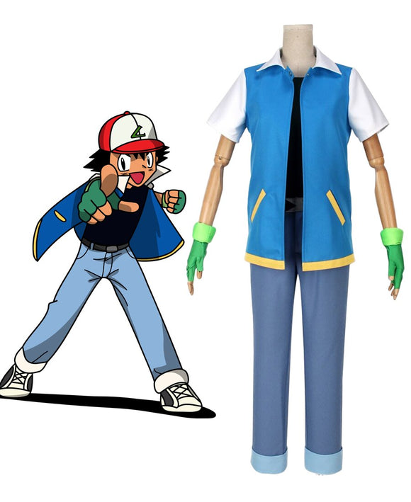 Pokemon Ash Ketchum Cosplay Costume Custom Made