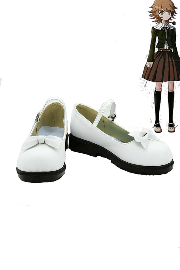 Danganronpa Chihiro Fujisaki Cosplay Shoes White Boots Custom Made Any Size