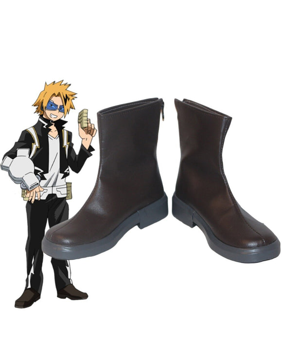 My Hero Academia Chargebolt Denki Kaminari Cosplay Boots Boku no Hero Academia Brown Shoes Cosplay Custom Made