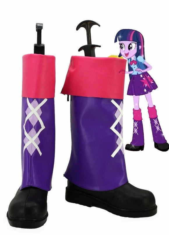 My Little Pony Equestria Girls Rainbow Rocks Twilight Sparkle Cosplay Boots Shoes Custom Made