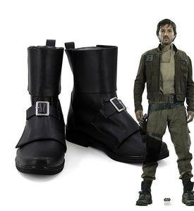 Rogue One A Star Wars Story Cassian Andor Cosplay Boots Black Shoes Custom Made