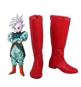 Dragon Ball East Kai Shin Cosplay Boots Red Shoes Custom Made Any Size