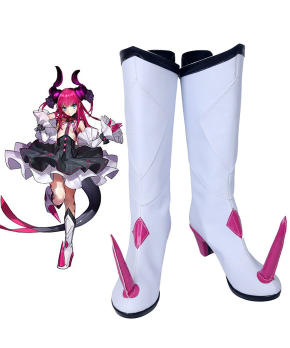 Fate Extra CCC Lancer Elizabeth Bathory Cosplay Boots White Shoes Custom Made