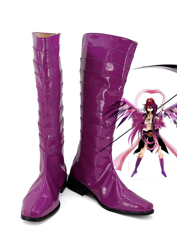 Magi The Labyrinth of Magic Ren Kouha Cosplay Boots Purple Shoes Custom Made
