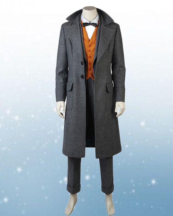 Newt Scamander Cosplay Costume Fantastic Beasts The Crimes of Grindelwald Newt Scamander Cosplay Full Set Custom Made