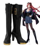 Hypnosis Mic DRB Division Rap Battle Ichijiku Kadenokoji Cosplay Boots High Heel Black Shoes Custom Made