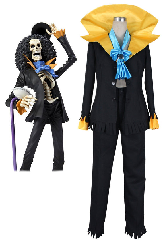 One Piece Dead Bones Brook Suit Cosplay Costume Custom Made