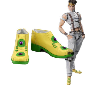 JOJO'S BIZARRE ADVENTURE 4 Rohan Kishibe Cosplay Boots Leather Shoes Custom Made