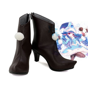 League of Legends LOL Lulu the Fae Sorceress Cosplay Boots Brown Shoes Custom Made