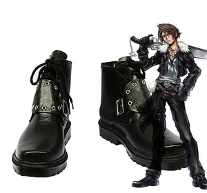 Final Fantasy VIII FF8 Squall Leonhart Cosplay Shoes Black Boots Custom Made