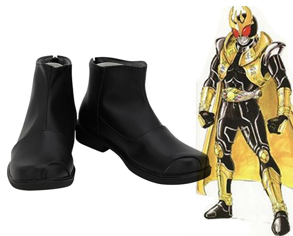Masked Rider Kuuga Cosplay Boots Black Shoes Kamen Rider Kuuga Cosplay Shoes Custom Made Any Size