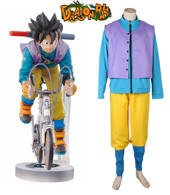 Dragon Ball Z Son Goku Bicycle Riding Suit Cosplay Costume Custom Made