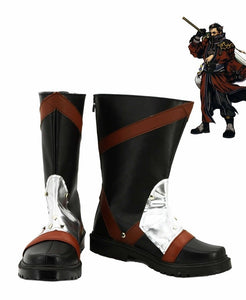 Final Fantasy FF10 Auron Cosplay Shoes Boots Custom Made