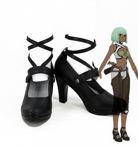RWBY Emerald Sustrai Cosplay Boots Black Shoes Custom Made