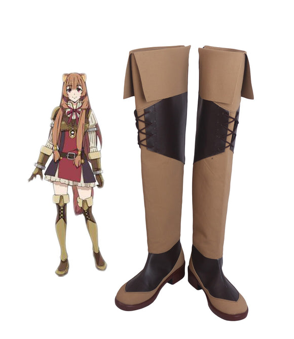 The Rising of the Shield Hero Katana Hero Raphtalia Cosplay Boots Overknee Shoes Custom Made