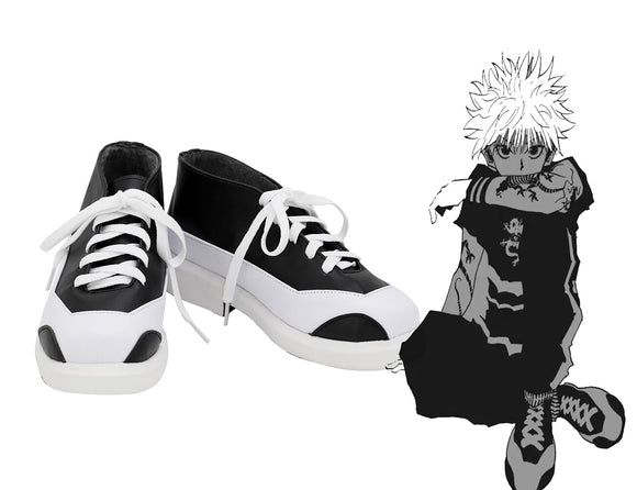 HUNTER x HUNTER Killua Zoldyck Cosplay Shoes Customized Boots for Boys and Girls Any Size