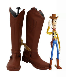 Toy Story Sheriff Woody Cosplay Boots Brown Shoes Custom Made Boys Girls Cosplay Shoes Any Size