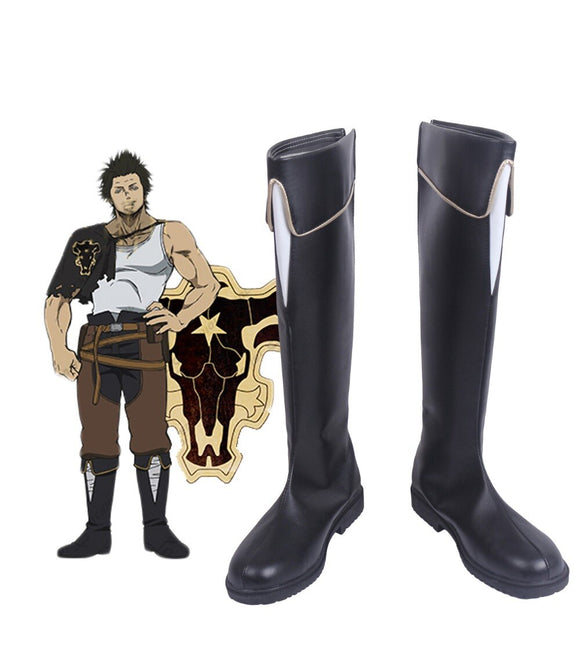 Black Clover Yami Sukehiro Cosplay Boots Black Shoes Custom Made Any Size