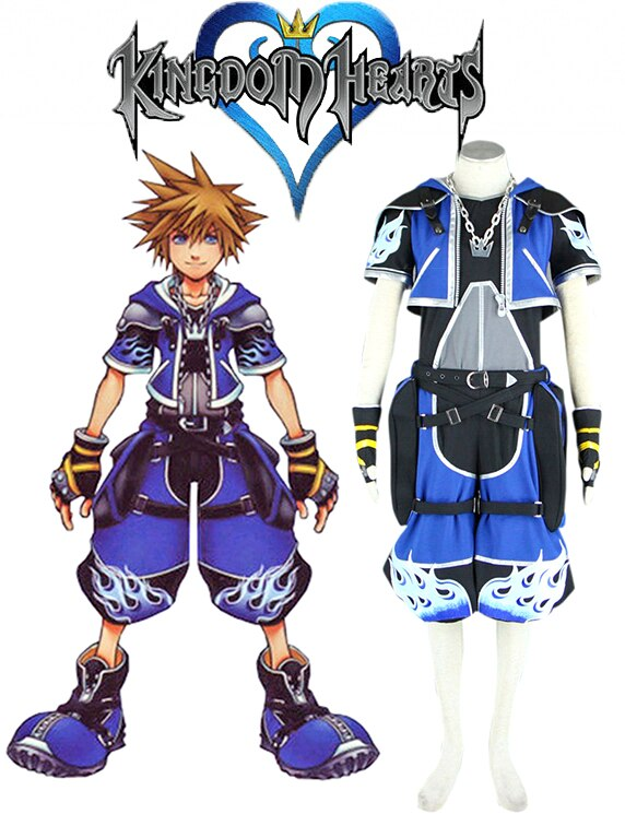 Kingdom Hearts Sora Wisdom Blue Uniform Cosplay Costume Custom Made