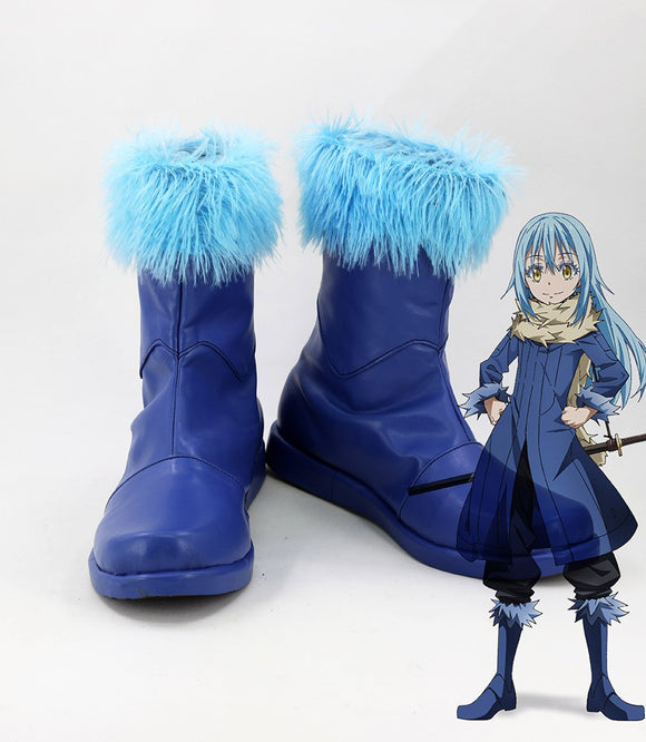 Rimuru Tempest Cosplay Boots Blue Shoes Tensei Shitara Slime Datta Ken Rimuru That Time I Got Reincarnated as a Slime Cosplay