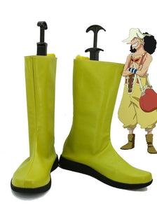 Anime One Piece Usopp Cosplay Shoes Yellow Boots Custom Made
