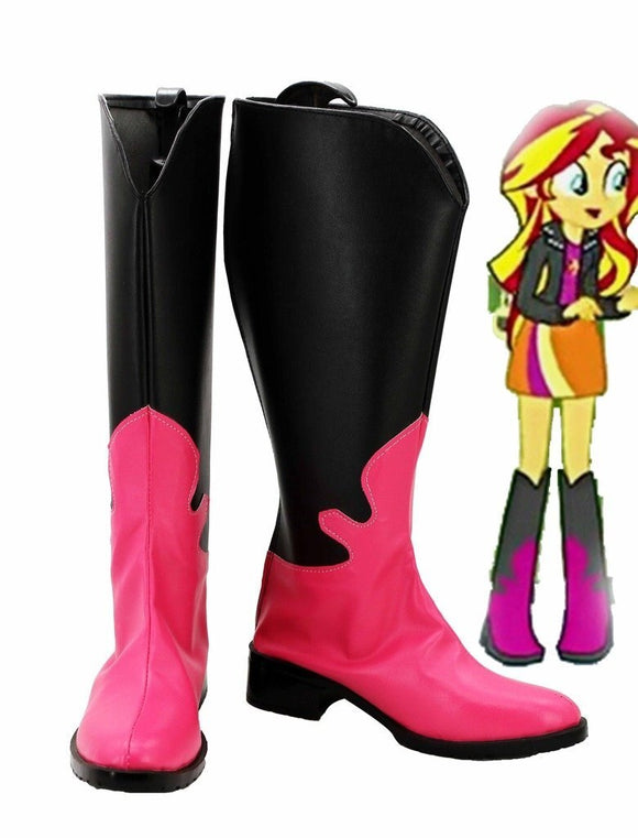 My Little Pony Equestria Girls Rainbow Rocks Sunset Shimmer Cosplay Boots Leather Shoes Custom Made