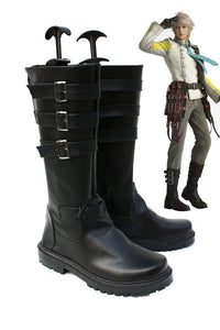 Final Fantasy XIII FF13-2 Hope Estheim Cosplay Boots Black Shoes