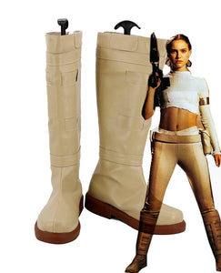 Star Wars 2 Attack Of The Clones Padme Naberrie AMIDALA Cosplay Boots Yellow Shoes Custom Made