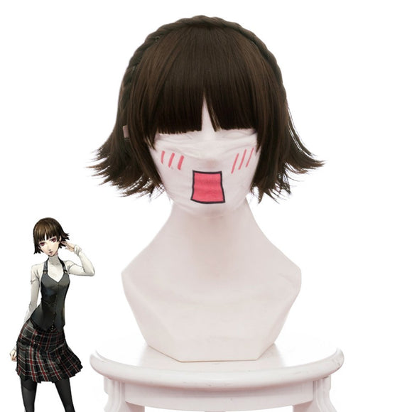Persona 5 PA5 Makoto Niijima Cosplay Wig Hair Brown Hair