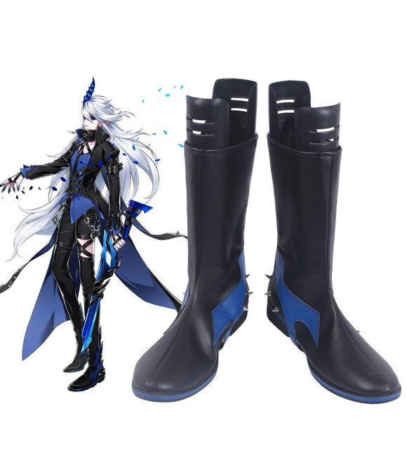 ELSWORD Ceil Demonio Black Cosplay Boots Shoes Custom Made Any Size