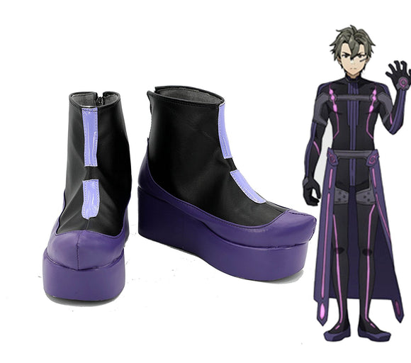 Sword Art Online Ordinal Scale Eiji Cosplay Boots Leather Shoes Custom Made Any Size