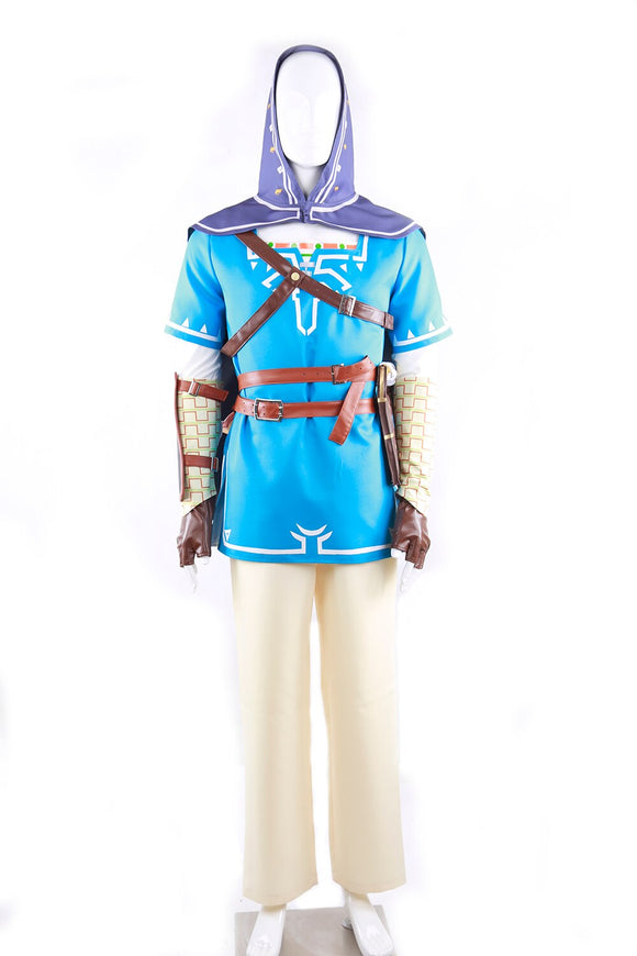 The Legend of Zelda Breath of the Wild Link Cosplay Costume Custom Made Full Set