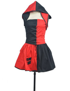 Batman Arkham Harley Quinn Dress Cosplay Costume Custom Made