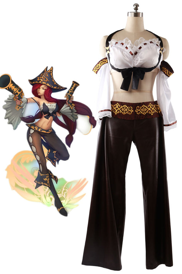 League of Legends LOL Miss Fortune the Bounty Hunter Cosplay Costume Custom Made