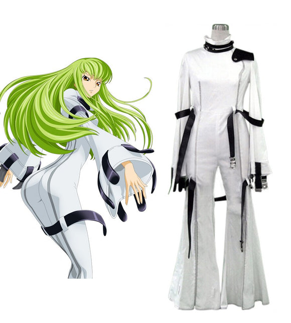 Code Geass C.C. White Uniform Cosplay Costume