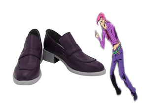 JoJo's Bizarre Adventure Diavolo Cosplay Shoes Purple Boots Custom Made for Boys and Girls