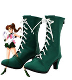 Sailor Moon Sailor Jupiter Makoto Kino Cosplay Boots Green Shoes Custom Made