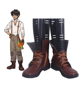 RWBY Oscar Pine Cosplay Boots Brown Shoes Custom Made Any Size for Men and Women
