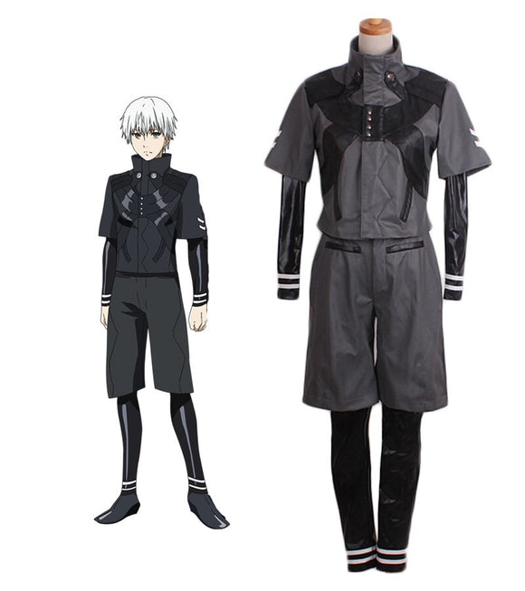 Tokyo Ghoul 2 Kaneki Ken Battle Suit Cosplay Costume Custom Made Full Set